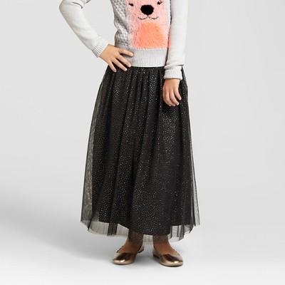 f1e3d8dd6 Girls Glitter Tulle Maxi Skirt – Cat & Jack™ Black M – Target ...