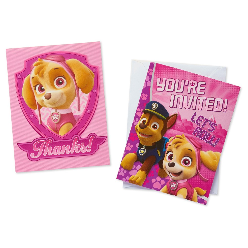 16 ct Paw Patrol Invitation and Thank You Card Pack
