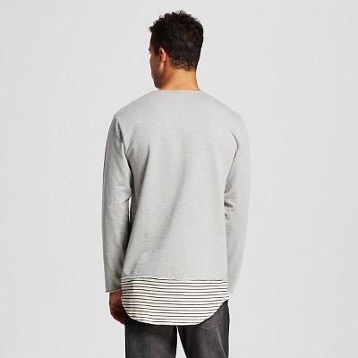 Men's Long Sleeve Long Tee Gray M - Jackson