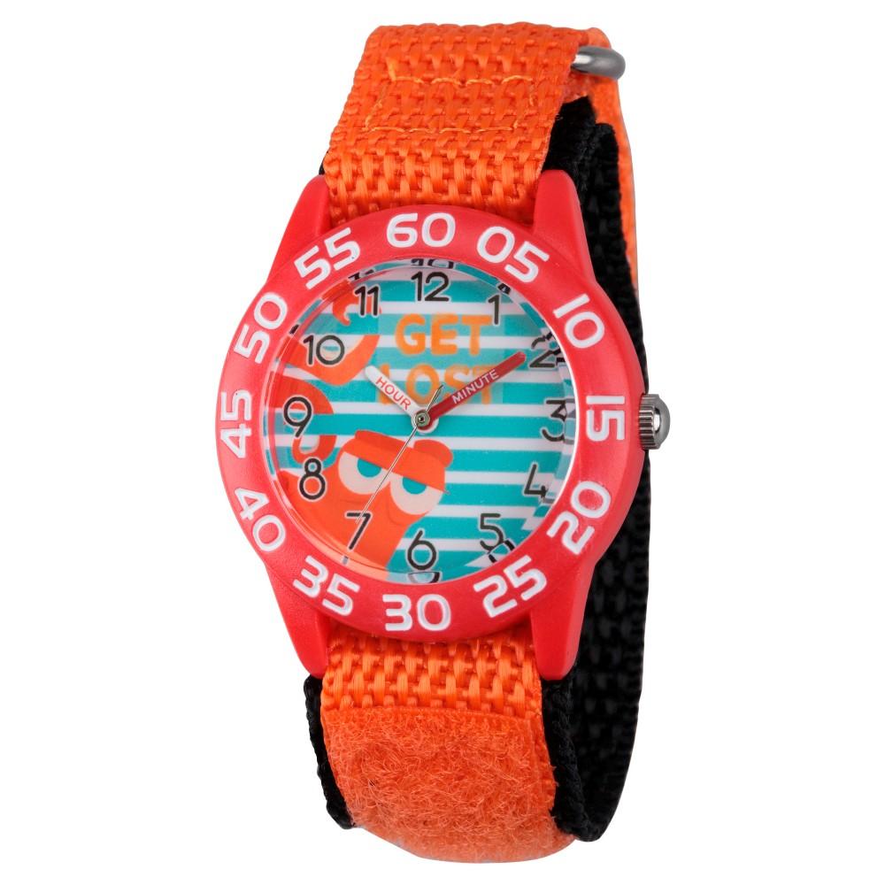 Boys Disney Finding Dory Red Plastic Time Teacher Watch - Orange, Purple