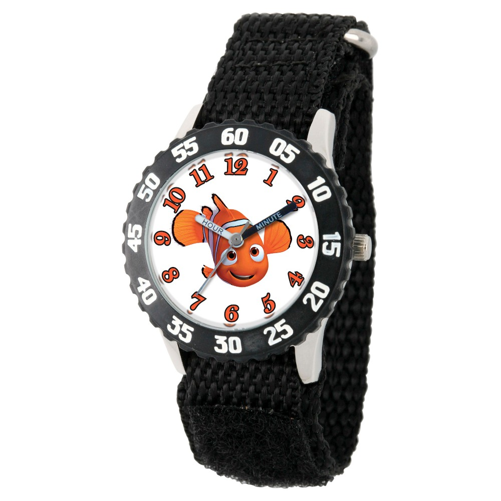Boys' Disney Finding Dory Stainless Steel Time Teacher Watch - Black, Purple