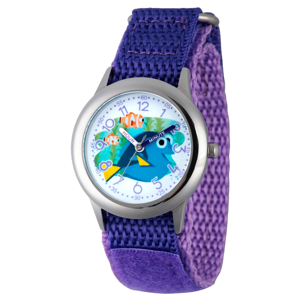 Boys' Disney Finding Dory Stainless Steel Time Teacher Watch - Purple
