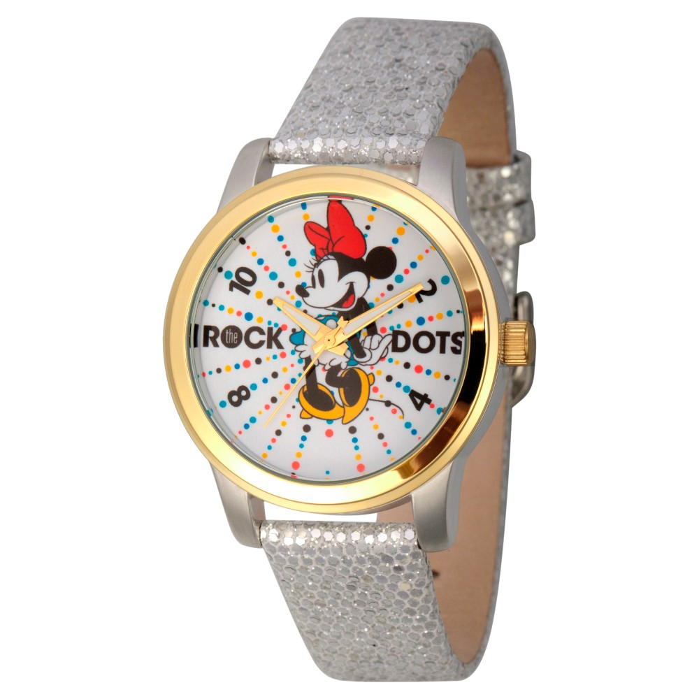 Womens Disney Minnie Mouse Two Tone Alloy Watch - Silver