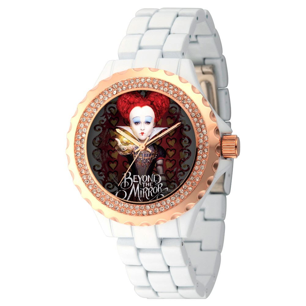 Womens Disney Alice through the Looking Glass Iracebeth The Red Queen Enamel Alloy Watch - White