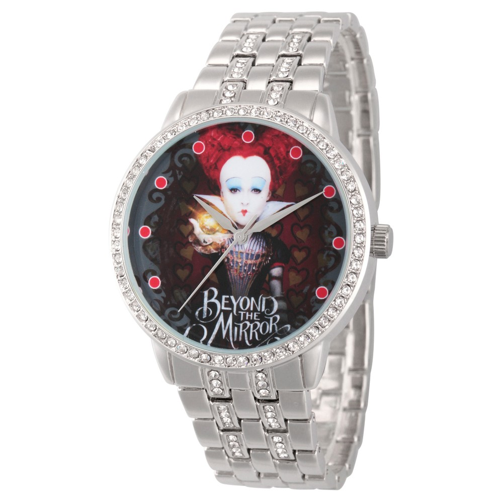 Womens Disney Alice through the Looking Glass Iracebeth The Red Queen Alloy Glitz Watch - Silver