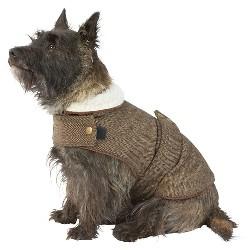 Harris Tweed Jacket Dog Costume - Brown