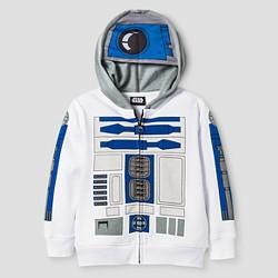 Toddler Boys' Star Wars R2D2 Costume Hoodie - White