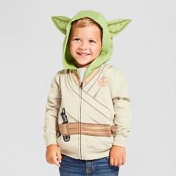 Toddler Boys' Star Wars Yoda Costume Hoodie - White