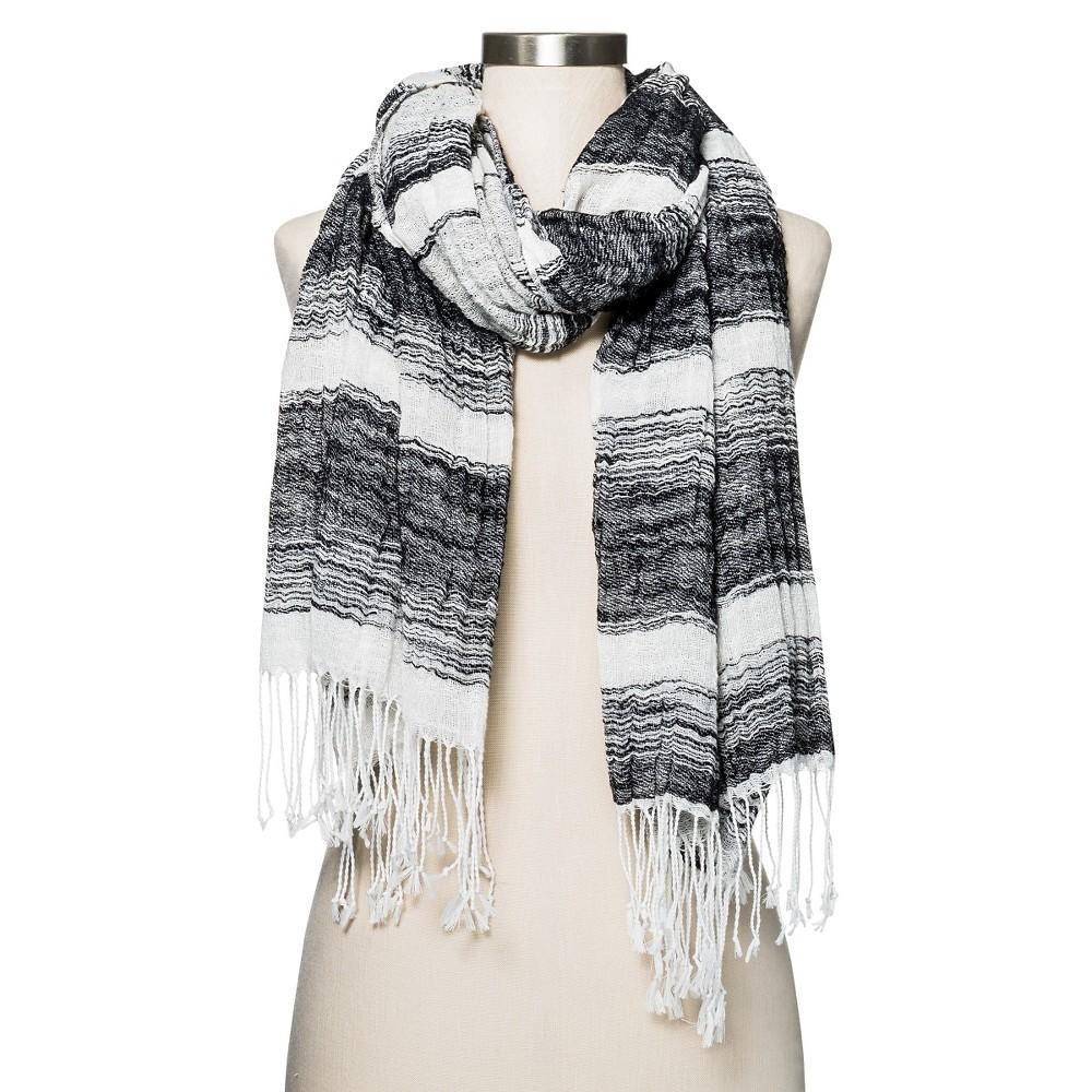 Womens Striped Scarf Black/White - Merona