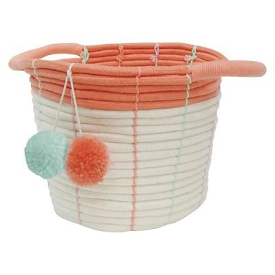 Small Storage Basket - Pom Pom Coral - Pillowfort™