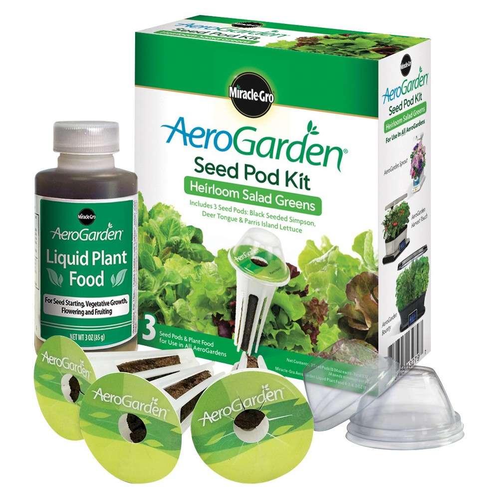 Miracle-Gro AeroGarden Heirloom Salad Greens Seed Pod Kit...