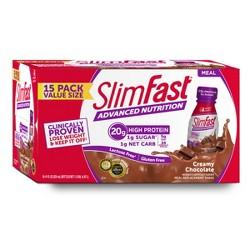 SlimFast® Advanced Nutrition Protein Shake - Creamy Chocolate - 15ct