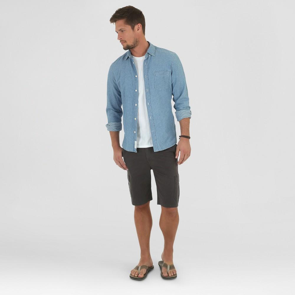 Crafted by Lee Mens Cargo Stretch Twill Shorts Smoke (Grey) 28