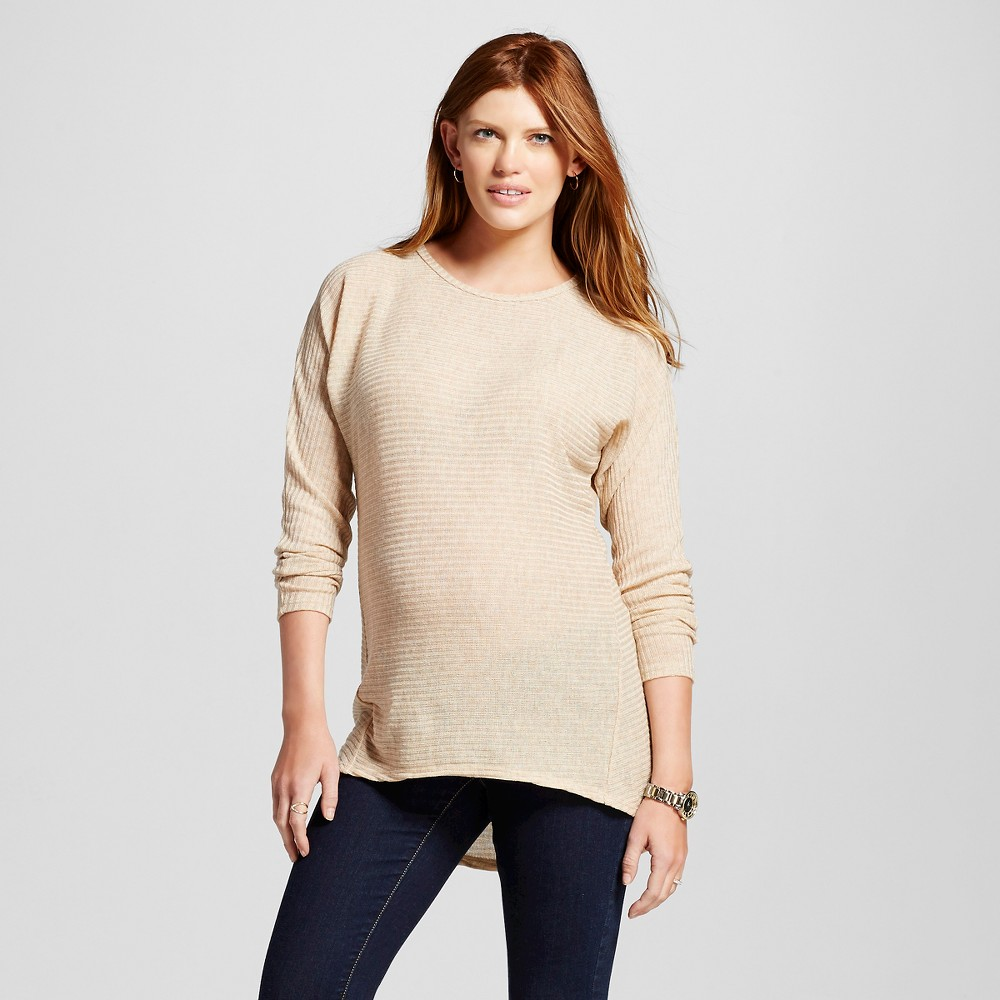 Maternity Long Sleeve Dolman Hi Low Top Oatmeal S – MaCherie, Women's