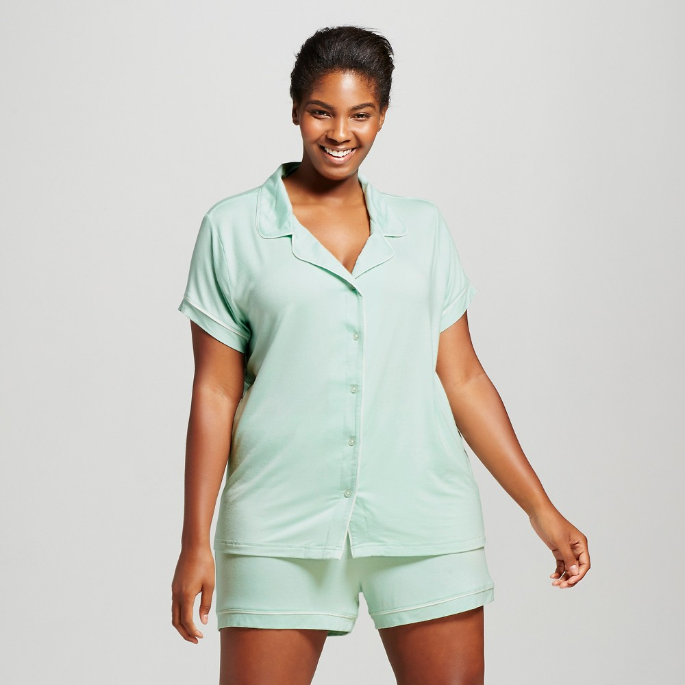 Womens Pajama Set Total Comfort - Glazed Green 2X