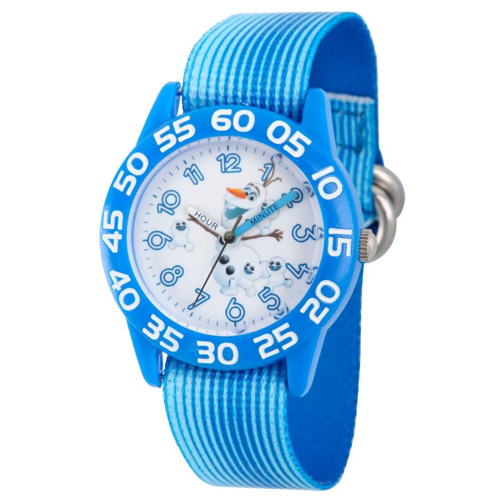 Boys' Disney Frozen Olaf Blue Plastic Time Teacher Watch - Blue