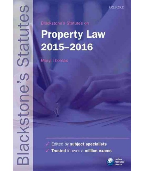 Blackstone's Statutes on Property Law 2015-2016 (Paperback) - image 1 of 1
