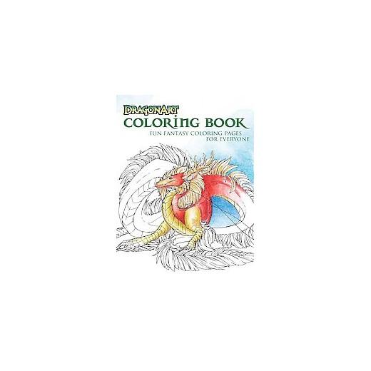 dragonart coloring book fun fantasy coloring pages for everyone paperback jessica peffer