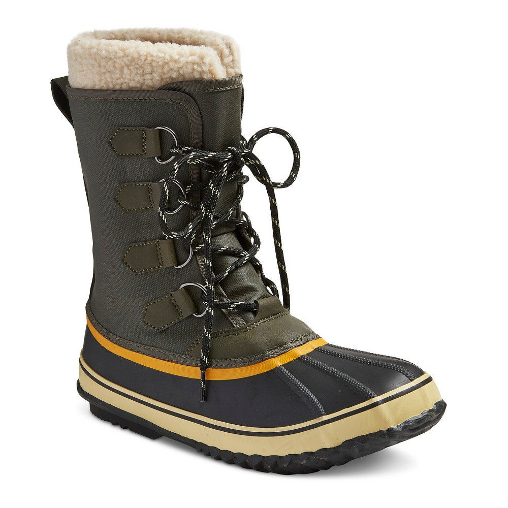 Mens Carlos Premier All Weather Winter Boots - Green 12