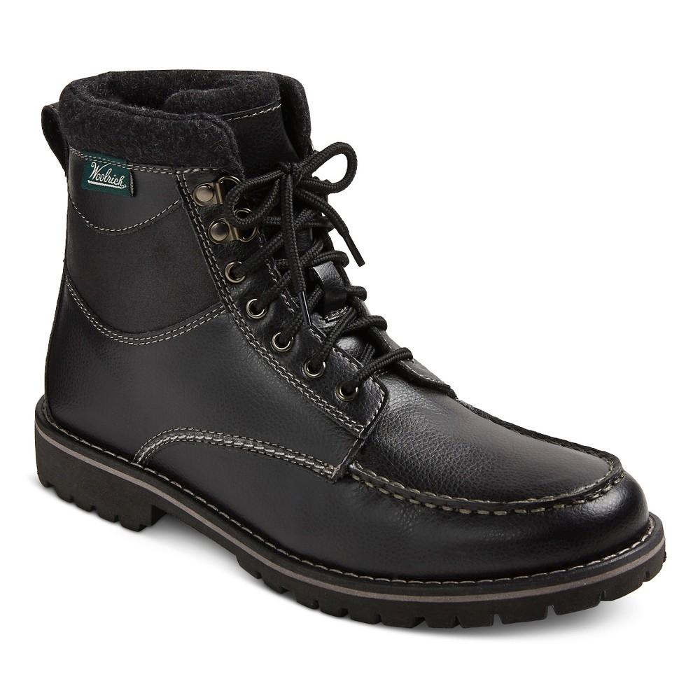Mens Woolrich Java Tall Utility Boots - Java 9, Black