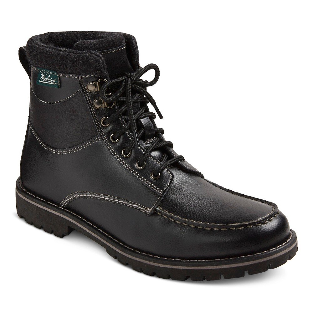 Mens Woolrich Java Tall Utility Boots - Java 11, Black