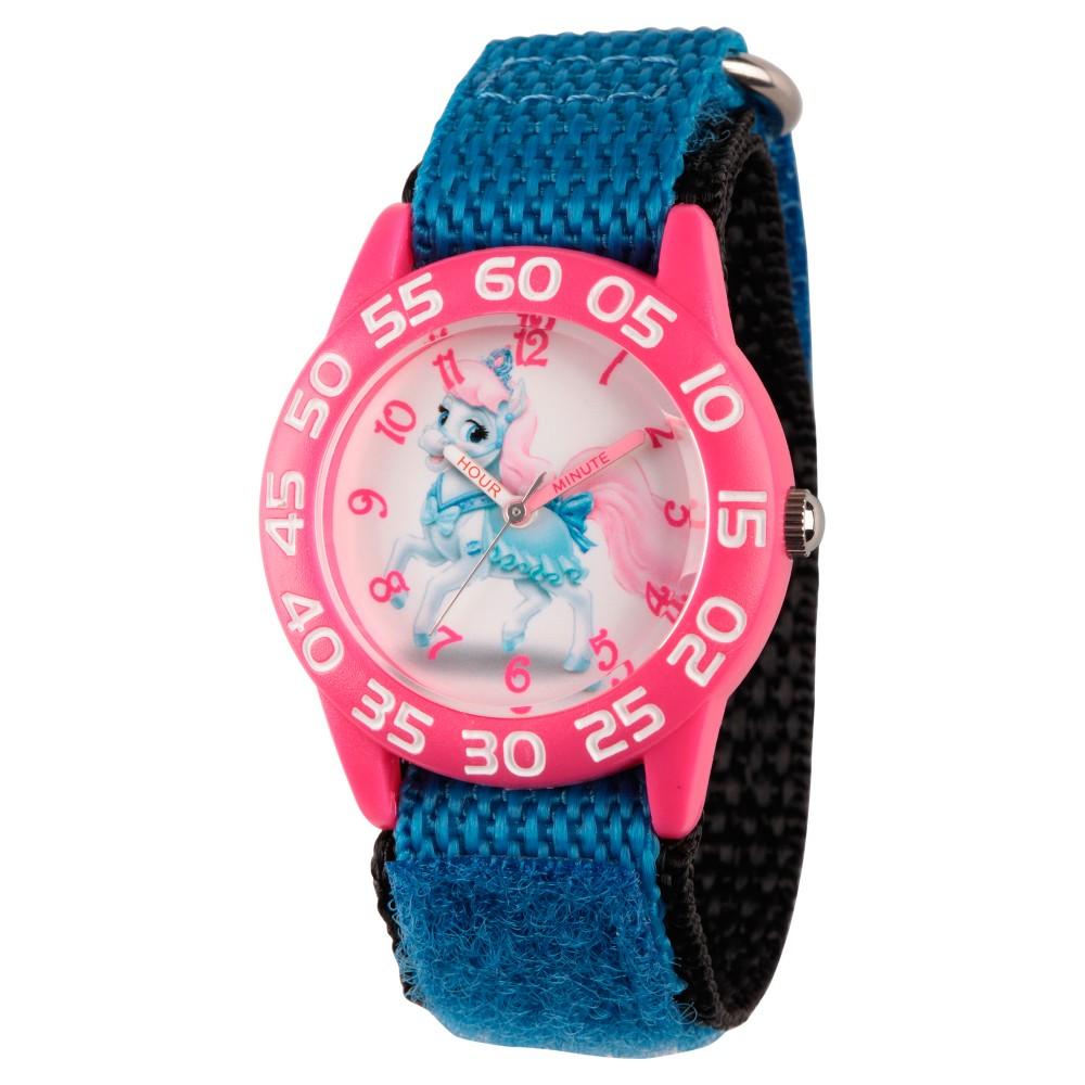 Girls Disney Palace Pet Bibbidy Pink Plastic Time Teacher Watch - Blue
