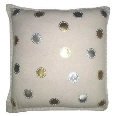 Polka Dot Throw Pillow - Gold & Silver - Threshold™