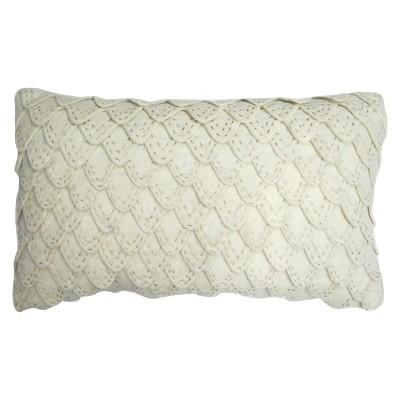 Leaf Lumbar Pillow - White - Threshold™