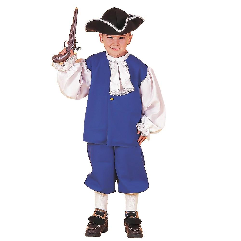 Boys Little Colonial Boy Costume L(12-14), Blue
