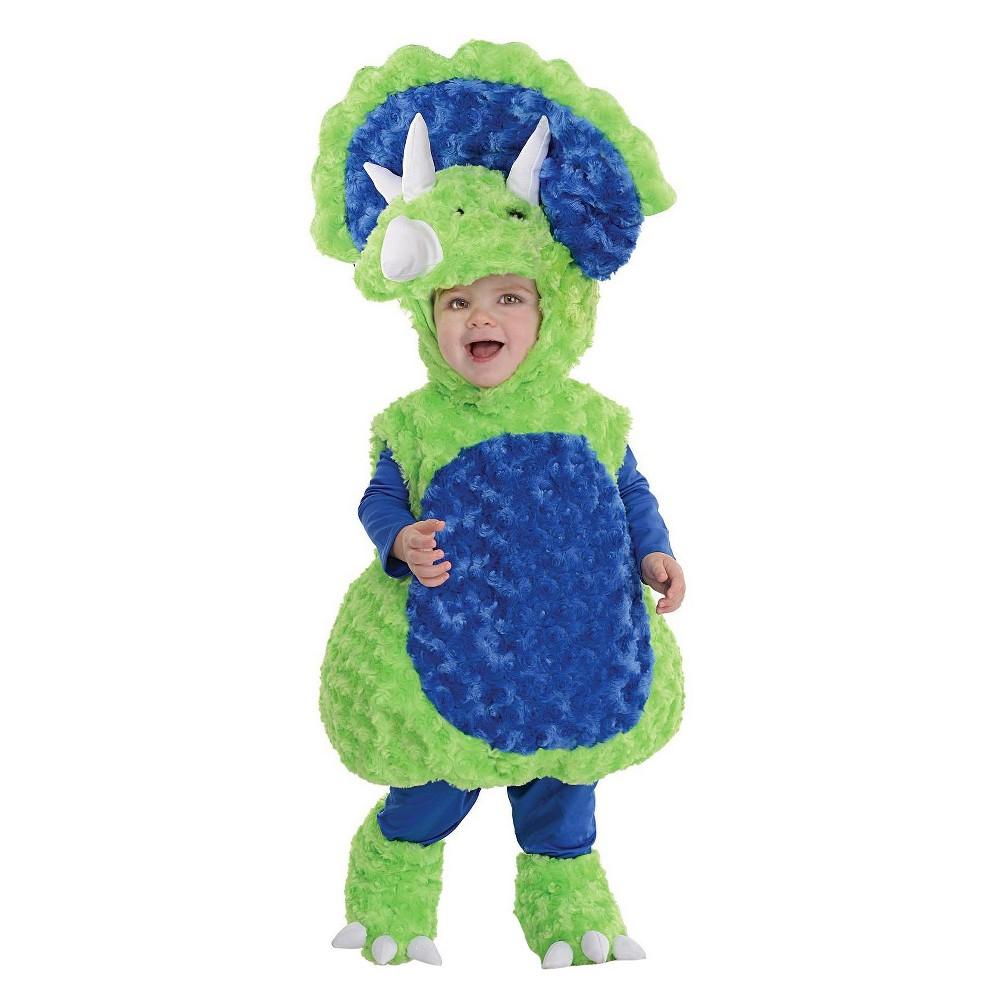 Kids Triceratops Costume - S(4-6), Kids Unisex, Multi-Colored