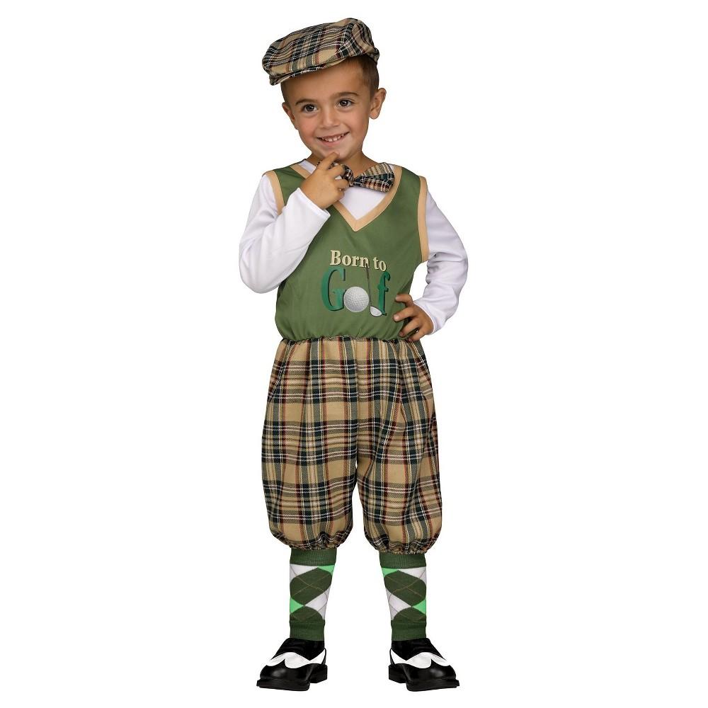 Toddler Golfer Costume - (3T-4T), Toddler Unisex, Multicolored