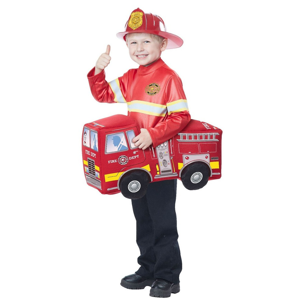 Kids Firetruck Hero Rider Costume - One Size Fits Most, Kids Unisex, Red