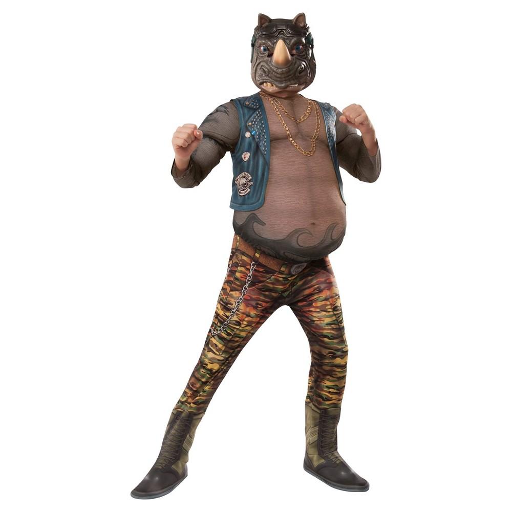 Teenage Mutant Ninja Turtles Rocksteady Deluxe Movie Version Kids Costume - Medium, Boys, Size: M(8-10), Multicolored