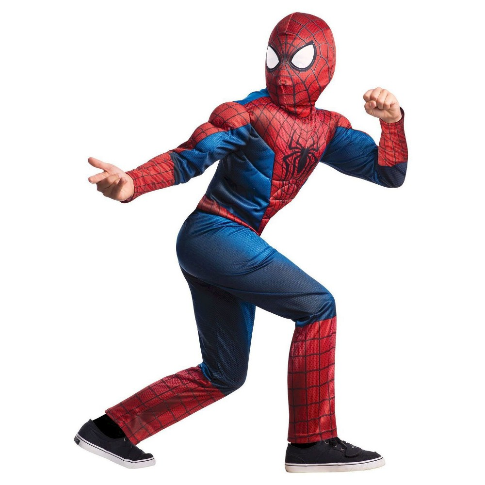 The Amazing Spider-Man 2 Deluxe Boys' Costume L(12-14), Red