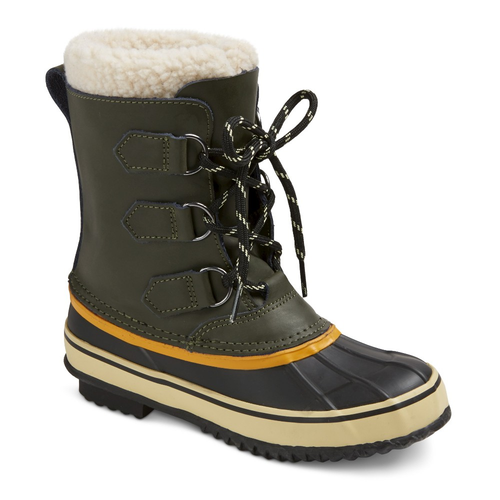 Boys Winston Premium Winter Boots - Green 2