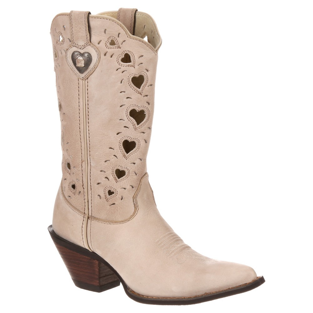 Womens Durango 11 Crush Heart Cutout Cowboy Boot - Taupe 10, Corolla Sand