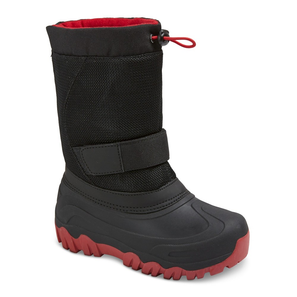 Boys Jalen Cold Weather Winter Boots - Black/Red 5