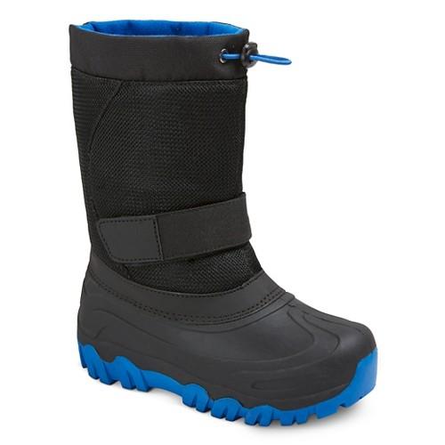 Boys' Jalen Cold Weather Winter Boots - Black/Blue 2, Boy's