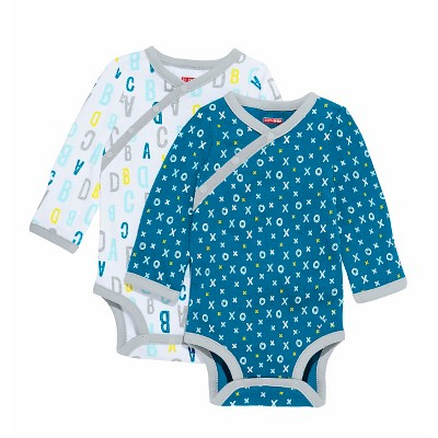 Skip Hop Baby Boys' Long Sleeve Side Snap Bodysuit - Blue NB