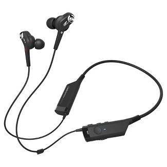 Audio Technica QuietPoint® Active Noise-Cancelling Wireless In-Ear Headphones - Black