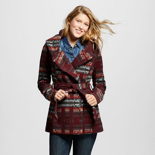 Women's Faux Wool Wrap Jacket Orange XL - Mossimo Supply Co.