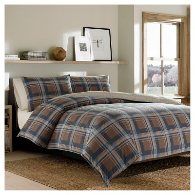 Phinney Ridge Plaid Comforter And Sham Set (Full/Queen)Dark Brown - Eddie Bauer®