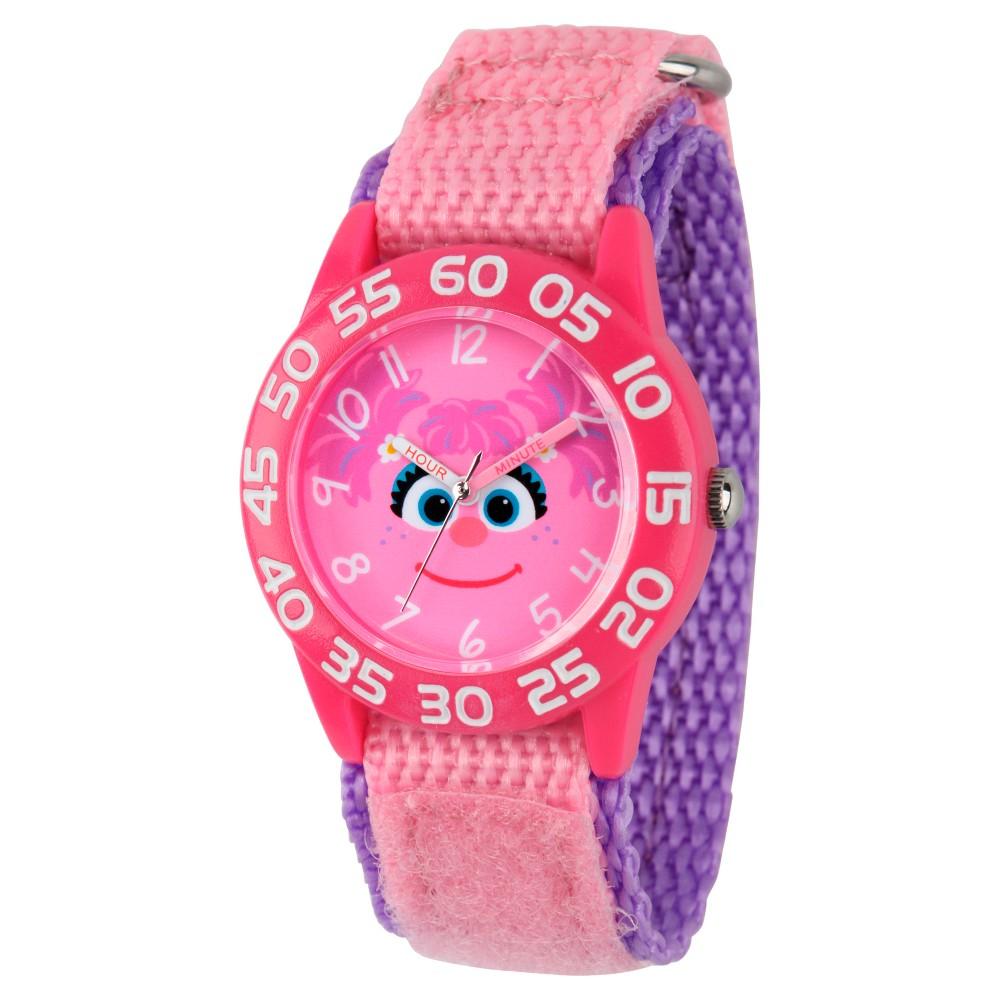 Girls Sesame Street Pink Plastic Time Teacher Watch - Pink