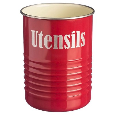 Great Typhoon Vintage Kitchen Utensil Pot   Red