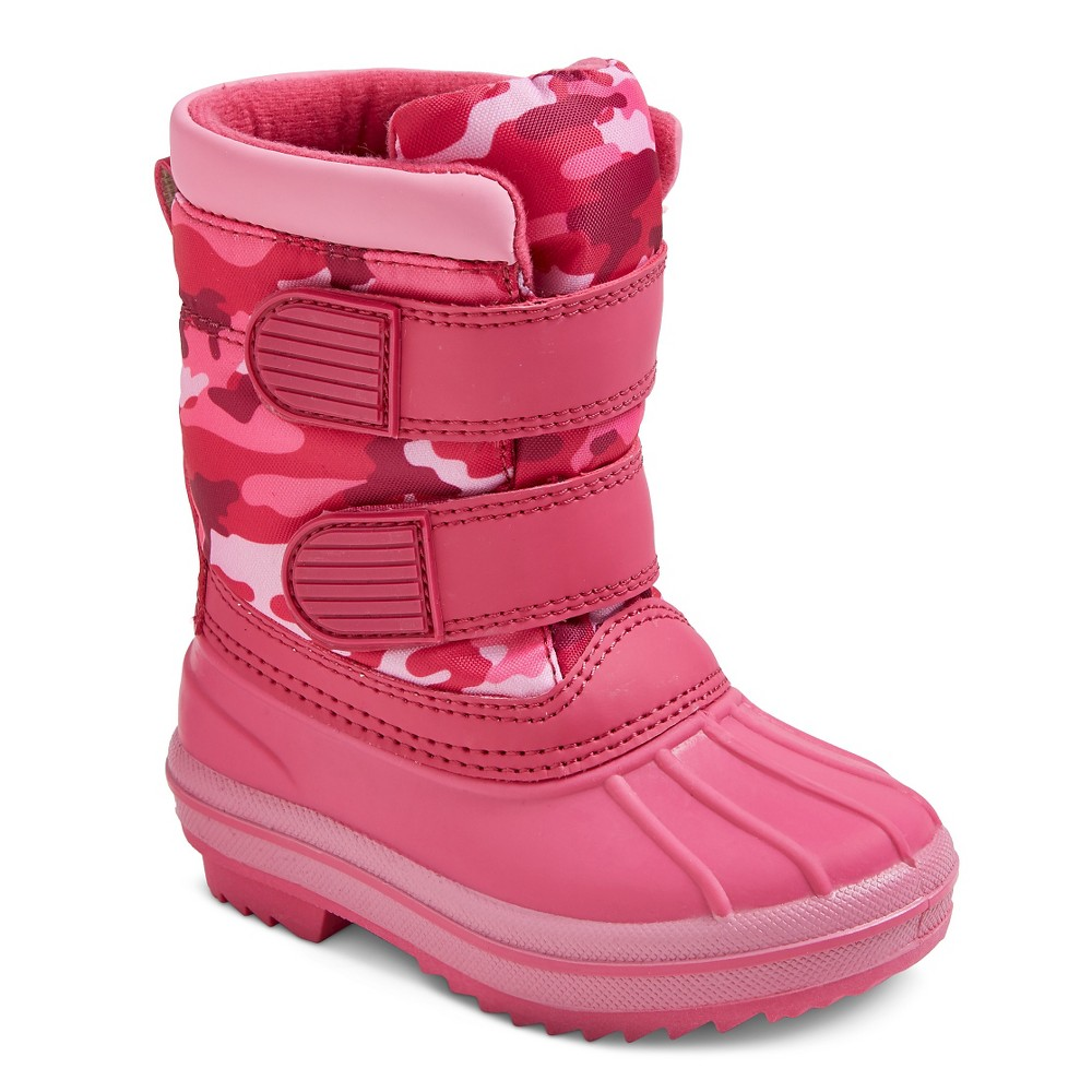 Toddler Girls Joleen Double Strap Camo Winter Boots - Pink S(5-6), Size: S 5-6