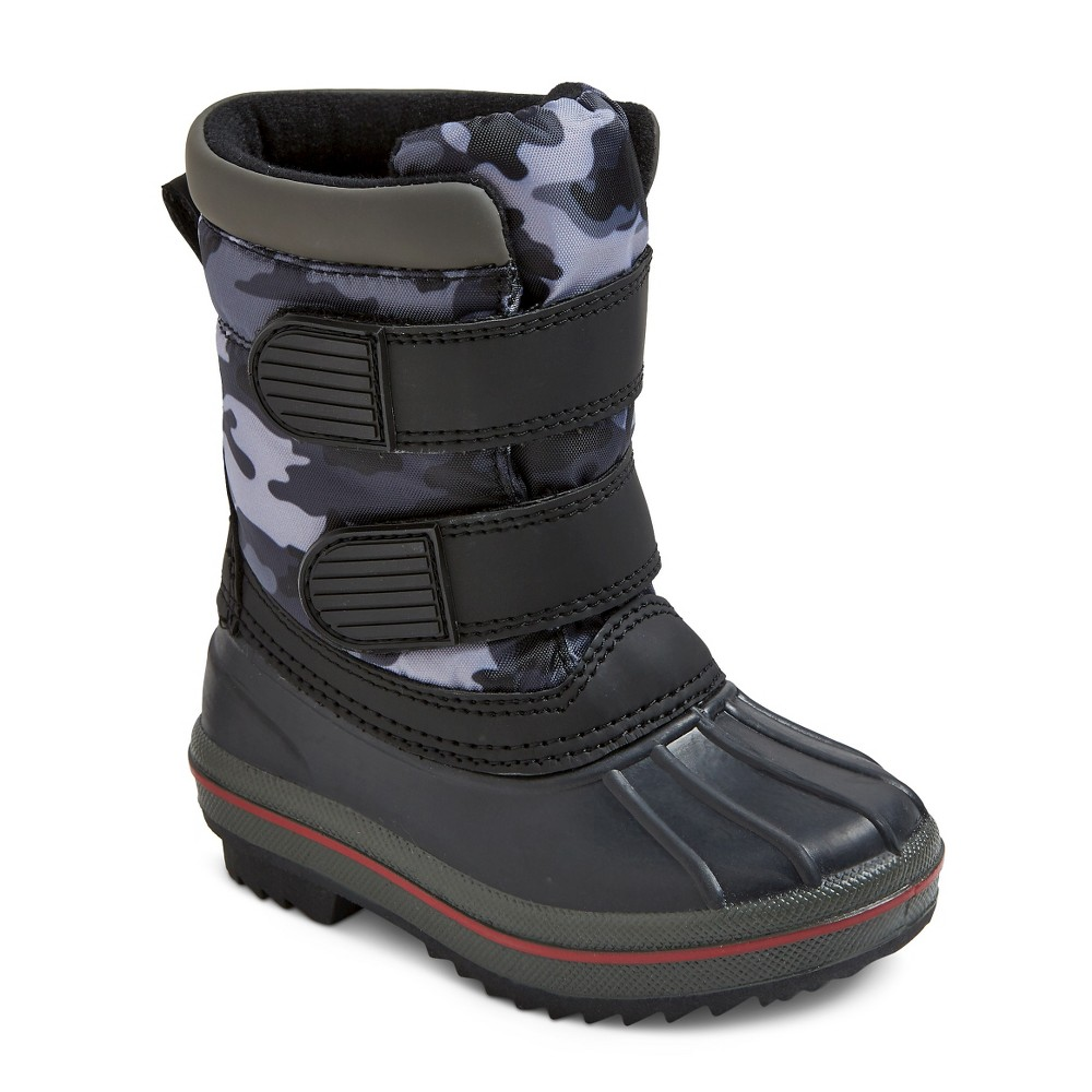 Toddler Girls Jared Double Strap Camo Winter Boots - Gray Camo L(9-10), Size: L 9-10