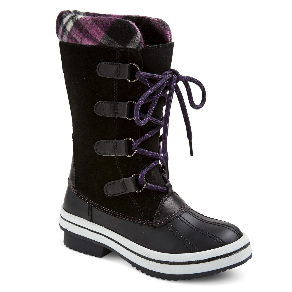 Girls Claire Sweater Top Winter Boots - Black 3