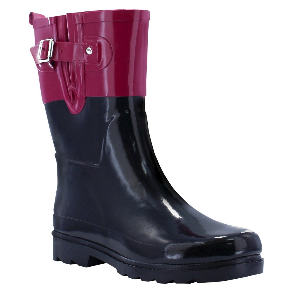Womens Western Chief Top Pop Mid Calf Rain Boots - Pink 9