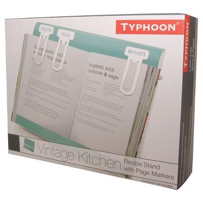 typhoon vintage kitchen recipe book holder blue