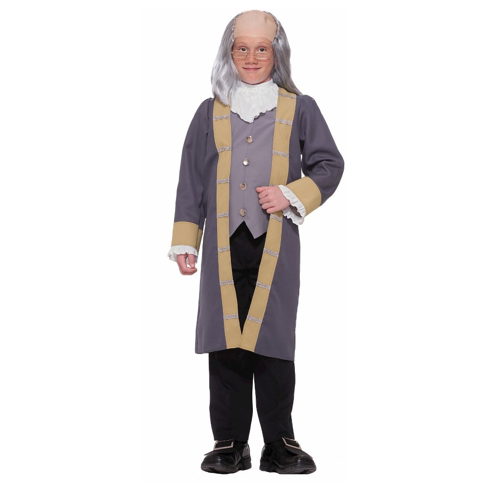 Boys Ben Franklin Costume - Large, Size: L(12-14), Gray